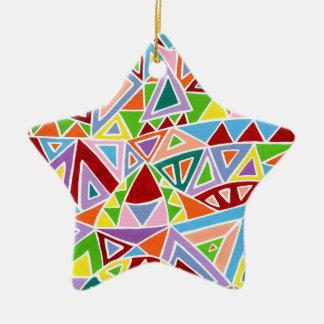 Triangulation Keramik Stern-Ornament