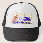 Triathlete - lassen Sie Fahrrad-Schwimmen laufen Truckerkappe