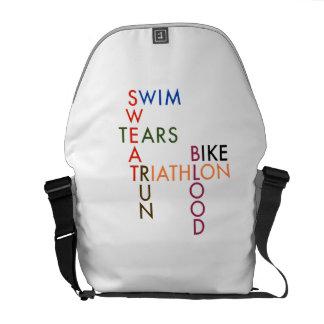 Triathlon-Blut-Schweiß und Risse Kurier Tasche