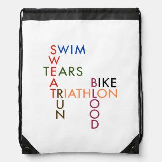 Triathlon-Blut-Schweiß und Risse Sportbeutel