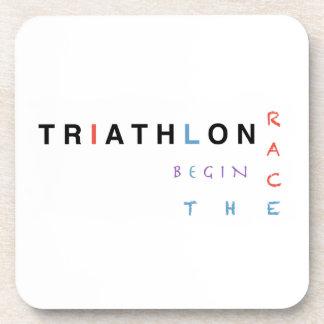 Triathlon ließ das Rennen anfangen Untersetzer