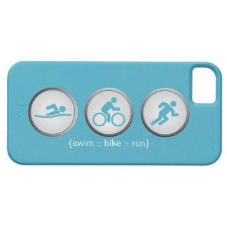Triathlon Schwimmen-Fahrrad-Geführter iPhone 5 Schutzhülle Fürs iPhone 5