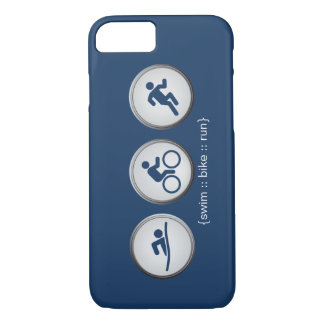 Triathlon Schwimmen-Fahrrad-Geführter iPhone 7 iPhone 7 Hülle