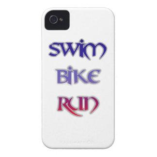 Triathlon-Schwimmen-Fahrrad-Lauf iPhone 4 Case-Mate Hülle