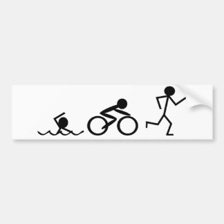 Triathlon-Strichmännchen Autoaufkleber
