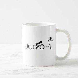 Triathlon-Strichmännchen Kaffeetasse