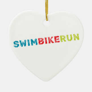 Triathlonentwurf Keramik Ornament