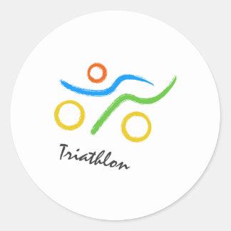 Triathlonlogo Runder Aufkleber