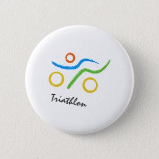 Triathlonlogo Runder Button 5,7 Cm