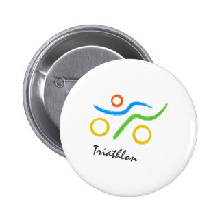 Triathlonlogo Runder Button 5,7 Cm