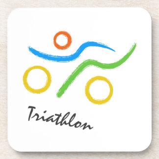 Triathlonlogo Untersetzer