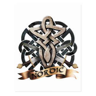 Tribal Knot viking B Postkarte