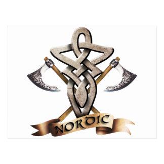 Tribal Knot viking D Postkarte