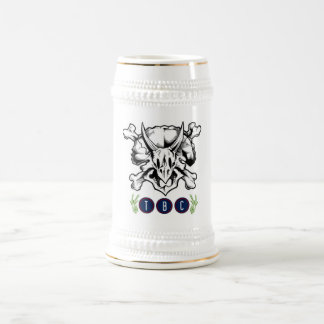 TriBEERatops weißes Bier Stein Bierglas