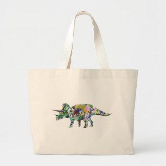 triceratops3 jumbo stoffbeutel