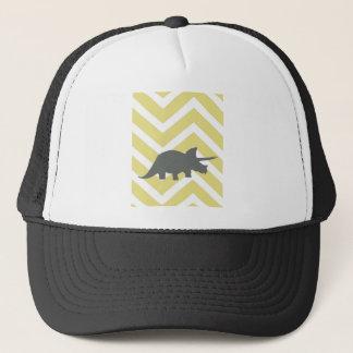 Triceratops auf dem Zickzack Zickzack - Gelb Truckerkappe