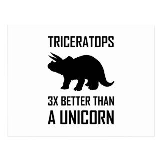 Triceratops besser als Einhorn Postkarte