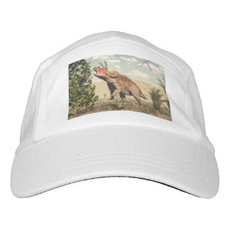 Triceratops, der am Magnolienbaum isst - 3D Headsweats Kappe