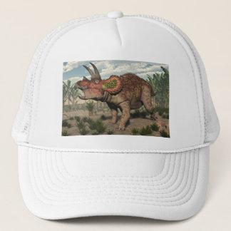 Triceratopsdinosaurier - 3D übertragen Truckerkappe