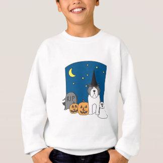 Trick oder Leckerei Beardie Halloween Sweatshirt