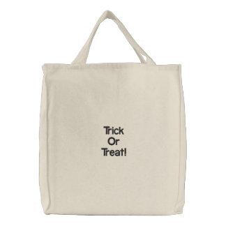 Trick oder Leckerei! Bestickte Einkaufstasche