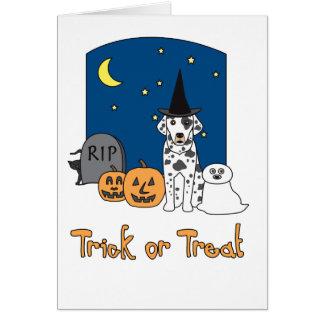 Trick-oder Leckerei-Dalmatiner Halloween Karte