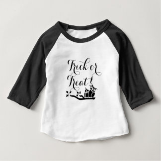 Trick-oder Leckerei-Halloween-Eule und Mond-Shirt Baby T-shirt