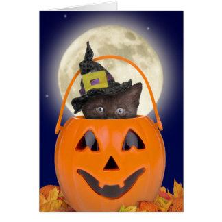 Trick-oder Leckerei-Halloween-Karte Karte