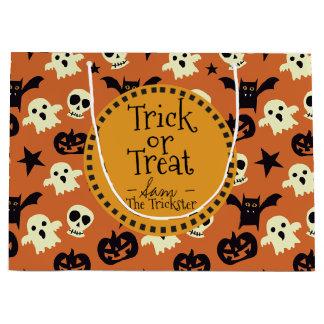 Trick oder Leckerei. Halloween-Monster Große Geschenktüte