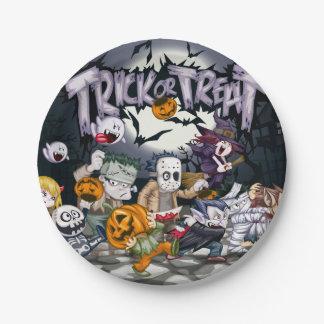 Trick oder Leckerei Halloween Pappteller