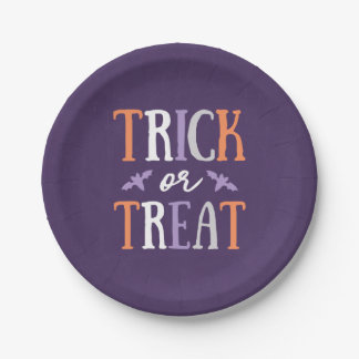Trick or Treat Paper Plates