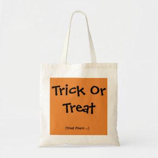 Trick-oder Leckerei-Halloween-Tasche für ihn Tragetasche
