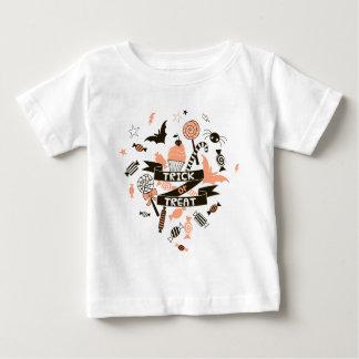 Trick-oder Leckerei-Sachen-Entwurf Baby T-shirt