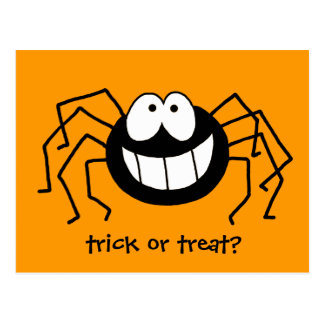 Trick-oder Leckerei-Spinne Postkarte