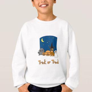 Trick-oder Leckerei-Vieh-Hund Halloween Sweatshirt