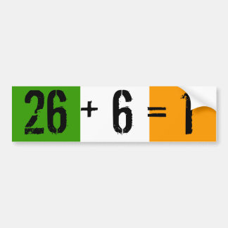 Tricolor, 26 + 6 = 1 autoaufkleber