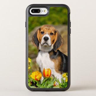 Tricolor Beagle-Hundewelpen-Foto auf Schutz OtterBox Symmetry iPhone 8 Plus/7 Plus Hülle