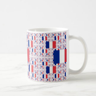Tricolor Frankreich-Flagge in den mehrfachen Tasse