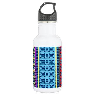 Tricolor geometrische Linie Kunst-Juwel-Muster Trinkflaschen