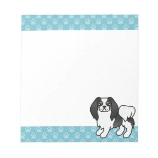 Tricolor Japanerchin-Cartoon-Hund Notizblock