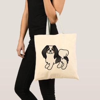 Tricolor Japanerchin-Cartoon-Hund Tragetasche