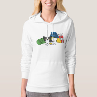Tricolor Papillon Agility-Hund Hoodie