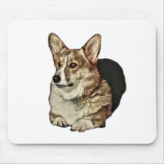 Tricolor Walisercorgi-Sitzen Mousepad