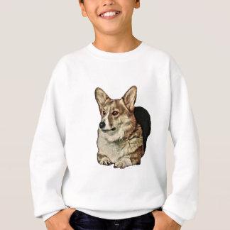 Tricolor Walisercorgi-Sitzen Sweatshirt