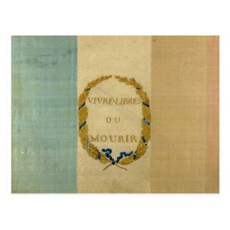 Tricolore mit das Motto 'lebhaftfreiem oder Die Postkarte