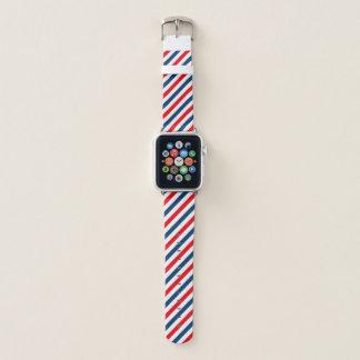 tricolour diagonale Streifen Apple Watch Armband
