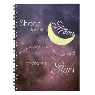 Trieb für das Mond-Inspirational Foto-Notizbuch Notizblock