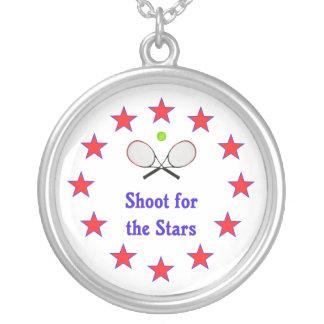 Trieb für das Stern-Tennis Versilberte Kette