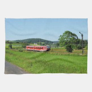 Triebwagen bei Münchhausen Geschirrtuch