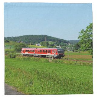 Triebwagen bei Münchhausen Stoffserviette